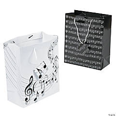 Medium Music Gift Bags with Tags