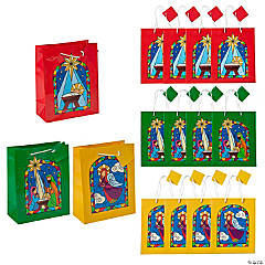 Medium Nativity Stained Glass Gift Bags