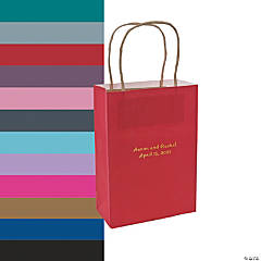 Medium Personalized Kraft Paper Gift Bags