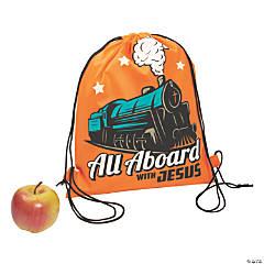 Medium Railroad VBS Drawstring Bags