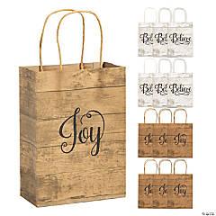 Medium Religious Kraft Paper Gift Bags