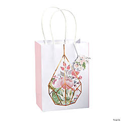 Medium Rose Gold Floral Gift Bags