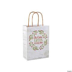 Medium Rustic Christmas Kraft Gift Bags