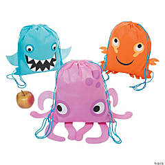 Medium Sea Life Drawstring Bags