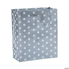 Medium Silver Polka Dot Gift Bags