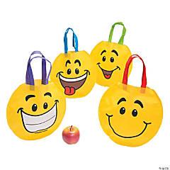 Medium Smile Face Tote Bags