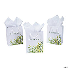 Medium Spring Greenery Thank You Gift Bags