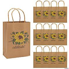 Medium Sunflower Kraft Paper Gift Bags