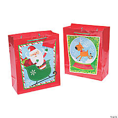 Medium Whimsical Christmas Gift Bags