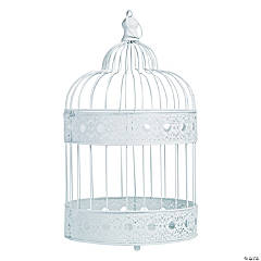 Medium White Bird Cage