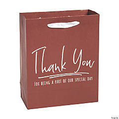 Medium Wine Colored Thank You Gift Bags
