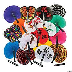 Mega Folding Hand Fan Assortment