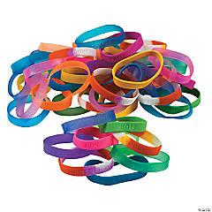 Mega Sayings Rubber Bracelet Assortment