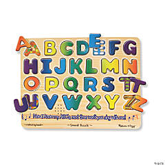 Melissa & Doug Alphabet Sound Jigsaw Puzzle, 13.25