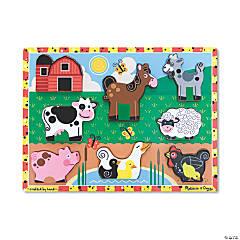 Melissa & Doug Farm Animals Jigsaw Puzzle, 9