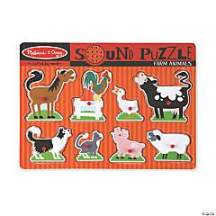 Melissa & Doug Farm Animals Sound Jigsaw Puzzle, 9 Pieces