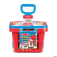 Melissa & Doug® Fill & Roll Grocery Basket Play Set