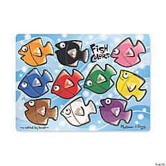 Melissa & Doug Fish Colors Mix 'n Match Jigsaw Puzzle, 11 Pcs