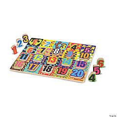 Melissa & Doug Jumbo Numbers Chunky Jigsaw Puzzle, 20 Pcs