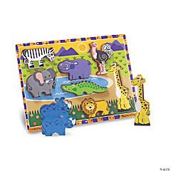 Melissa & Doug Safari Chunky Jigsaw Puzzle, 9
