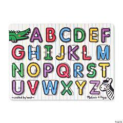 Melissa & Doug See-Inside Alphabet Peg Jigsaw Puzzle, 27 Pcs