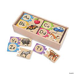 Melissa & Doug Self-Correcting Letter Jigsaw Puzzles, 52 Pcs