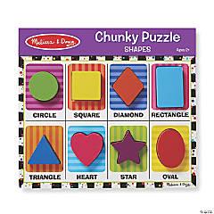 Melissa & Doug Shapes Chunky Jigsaw Puzzle, 9