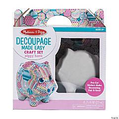Melissa & Doug® Decoupage Piggy Bank Kit