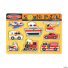 Melissa & Doug Vehicles Sound Jigsaw Puzzle, 9 Pieces