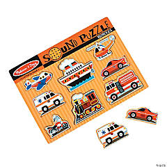 Melissa & Doug® Vehicles Sound Puzzle