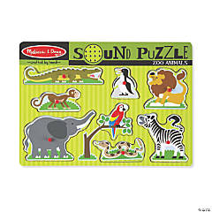 Melissa & Doug Zoo Animals Sound Jigsaw Puzzle, 9 Pieces