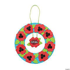 Memorial Day Poppy Wreath Craft Kit