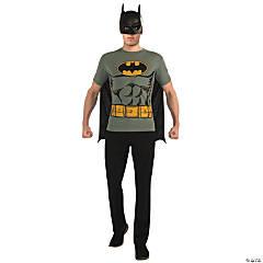 Men's Batman T-Shirt with Cape Costume - Large