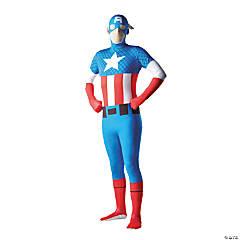 Men's Second Skin Captain America Costume - Medium