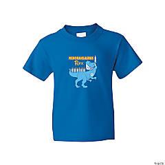 Menorahsaurus Rex Youth T-Shirt - Extra Large