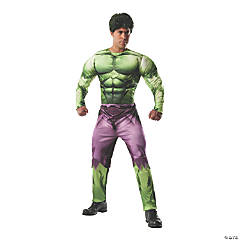 Men's Adult Deluxe Muscle Chest Hulk Costume - Standard