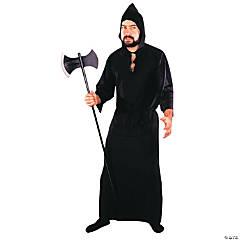 Men's Black Masquerade Robe Costume