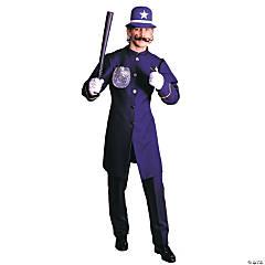 Men's Blue Keystone Cop Costume - Large