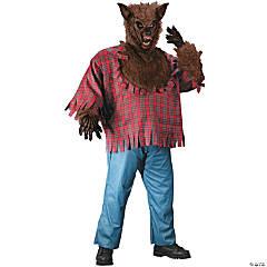 Men's Brown Werewolf Costume - Plus Size