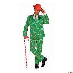 Men's Candy Cane Suit Costume - Extra Large