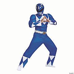 Men's Classic Muscle Mighty Morphin Power Ranger Blue Ranger –Large