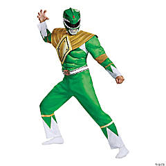 Men's Classic Muscle Power Rangers Green Ranger Classic Costume