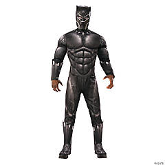 Men's Deluxe Marvel Black Panther™ Muscle Chest Costume - Medium