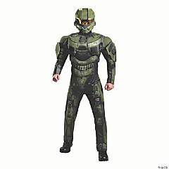 Men's Deluxe Muscle Halo Master Chief Costume – Large