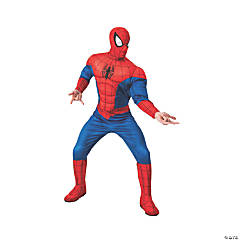 Men's Deluxe Spiderman Costume - Extra Large