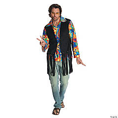 Men's Flower Power Hippie Costume - Extra Large