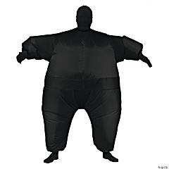 Men's Inflatable Black Skin Suit Costume