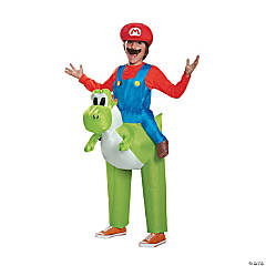 Men's Inflatable Mario Riding Yoshi Costume - Medium/Large