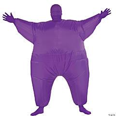 Men's Inflatable Purple Skin Suit Costume