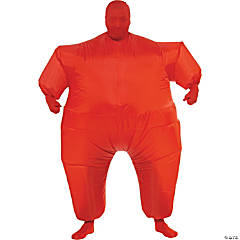 Men's Inflatable Red Skin Suit Costume